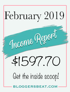 February 2019 Income Report for Blogger's Beat