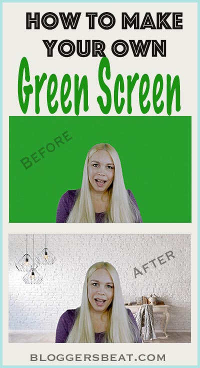 How To Make Your Own Green Screen - a simple, easy, DIY that won't break the bank! Perfect for #photography and #videography