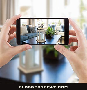 woman taking image with iPhone