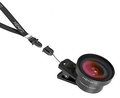 wide angle iPhone lens on lanyard