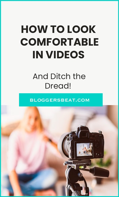 How To Look Comfortable In Videos pinnable