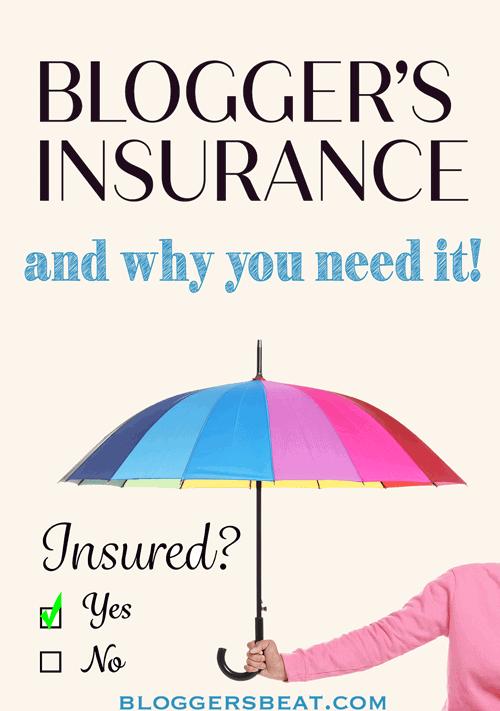 blogger's insurance