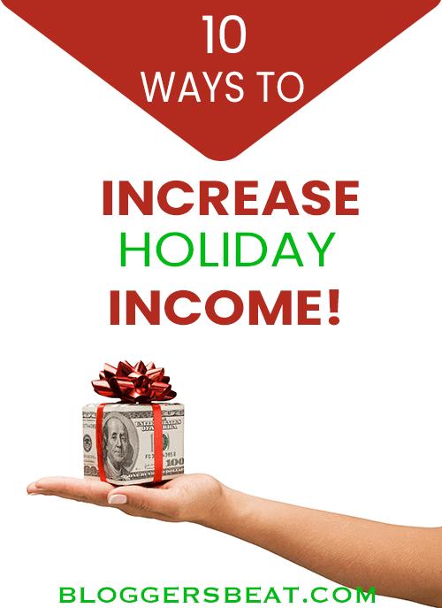 increase holiday income pin