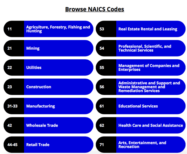 NAICS category topics