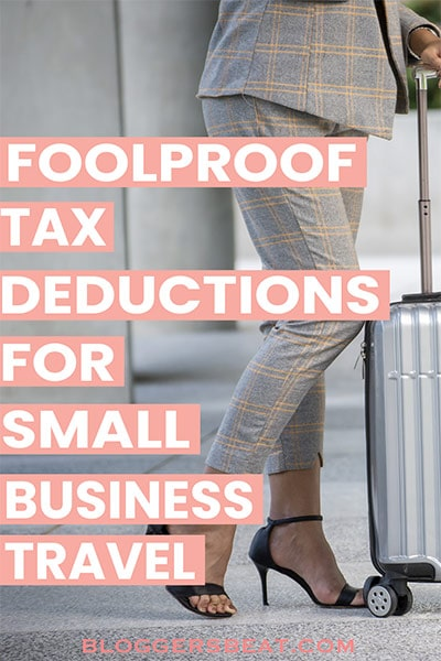 Business travel tax expenses - pin