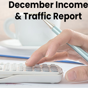 December Income and Traffic Report feature image